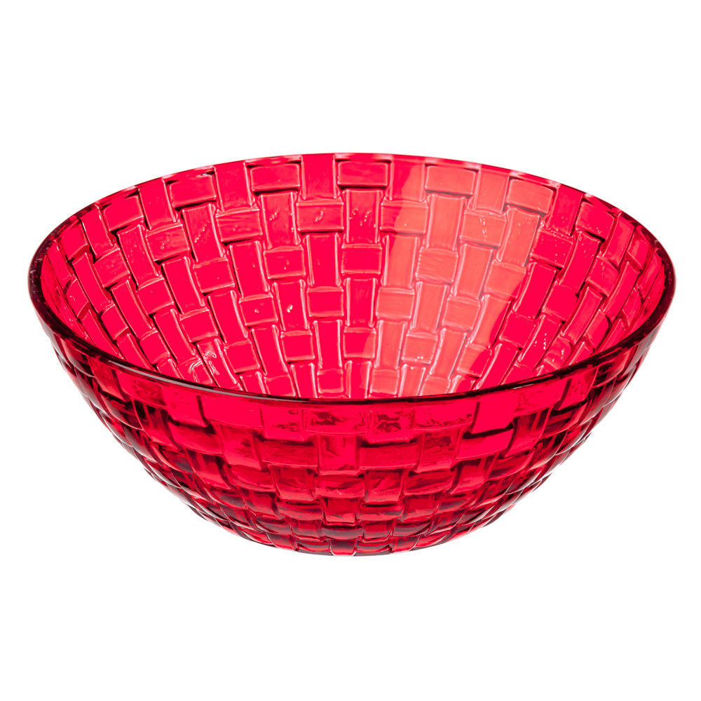 Коралл Салатник, 800мл, стекло, красный
