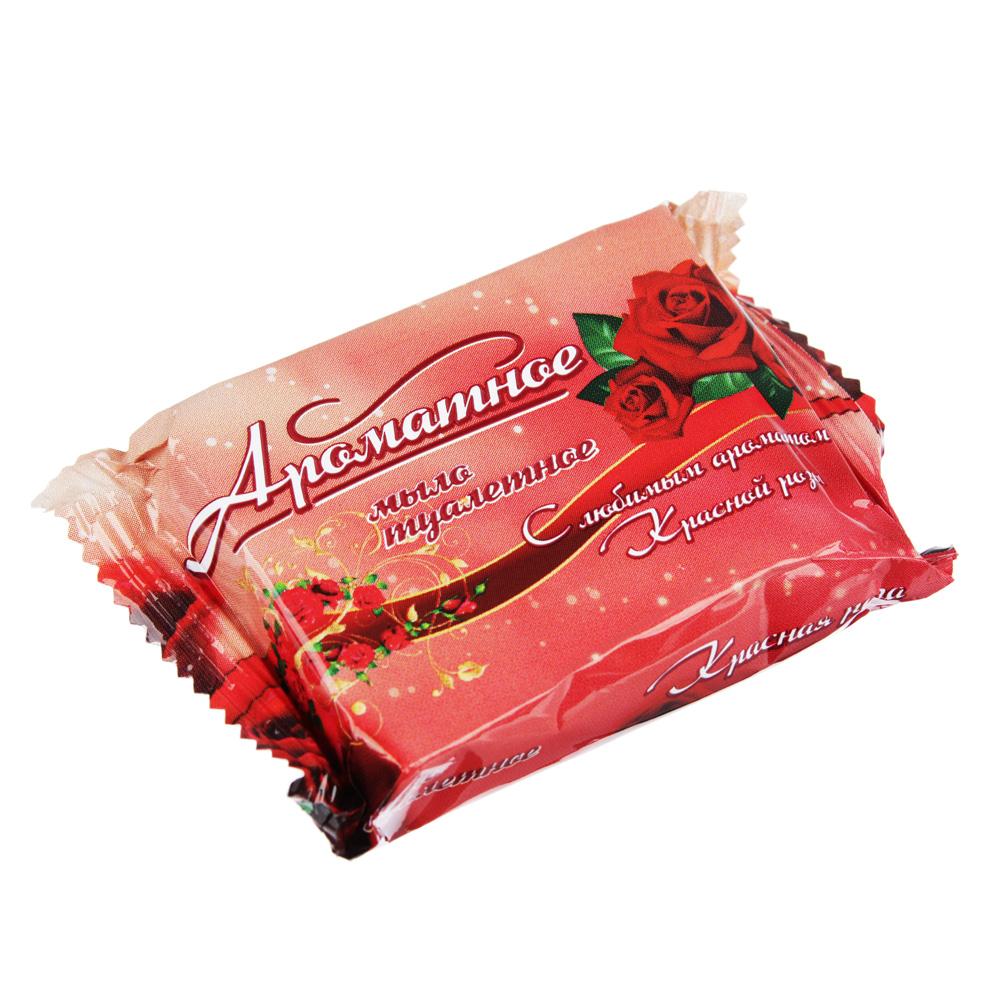 Мыло твердое Ароматное Роза/Алоэ, п/п 50г, 80341