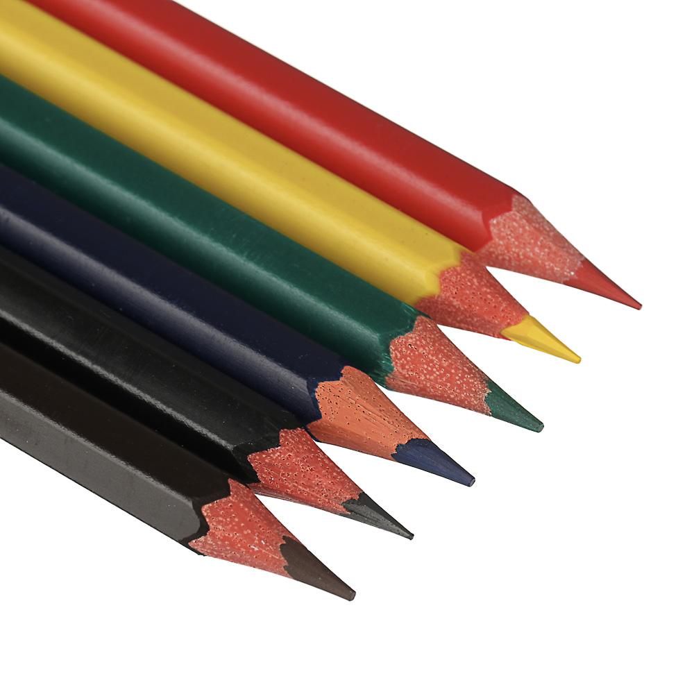 Карандаши ClipStudio 6 цветов шестигранные заточенные