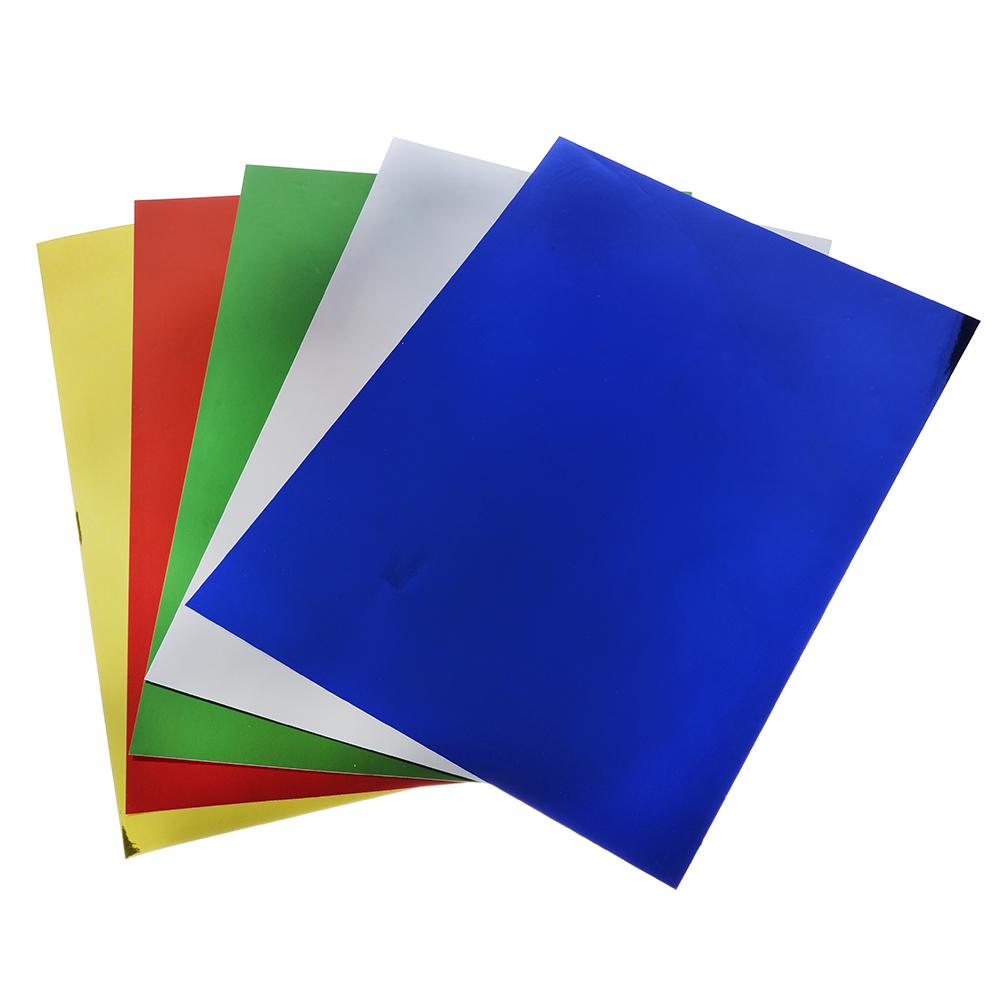 Бумага цветная металлизированная А4, 80гр/м2, 5 цветов, в пакете