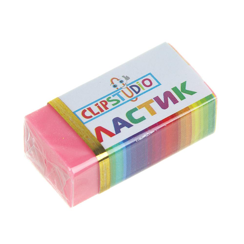 Ластик ClipStudio в картонном держателе, 4 цвета