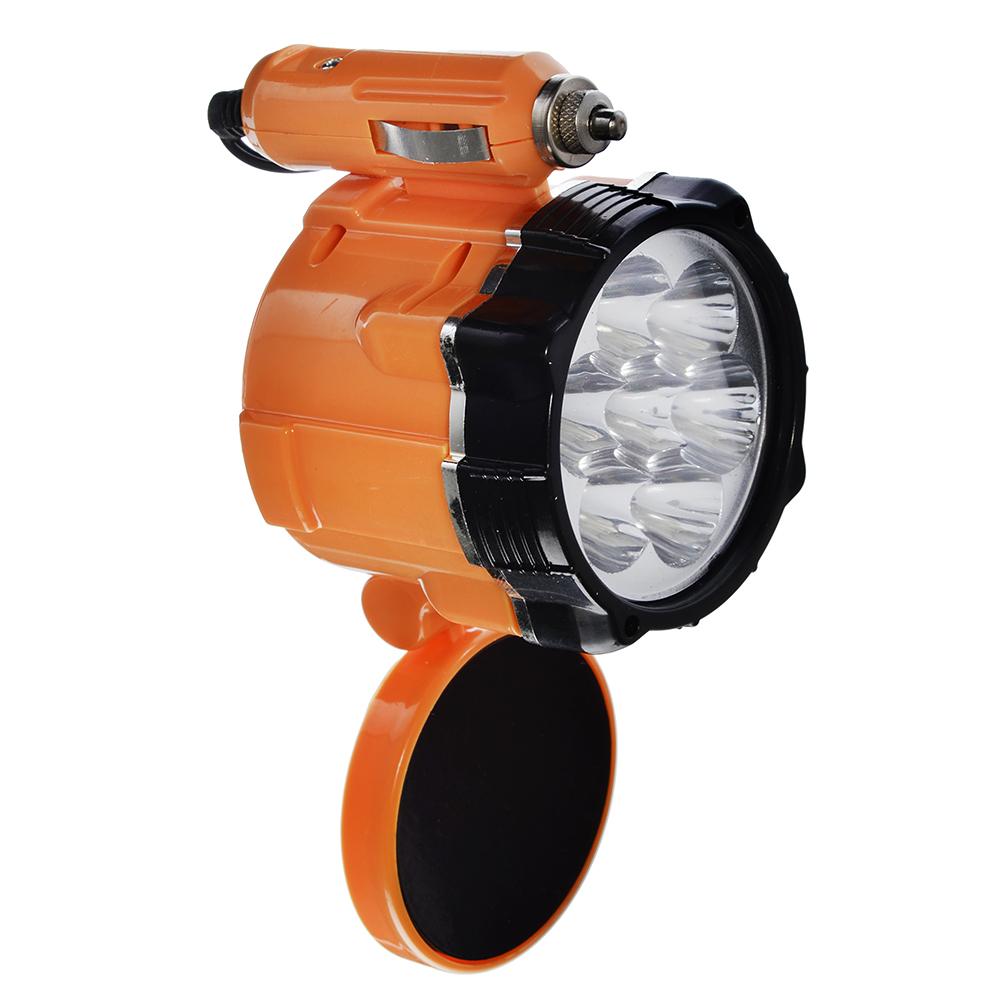 ЕРМАК Фонарь 7 LED, 5Вт, от прикуривателя 12В, магнит