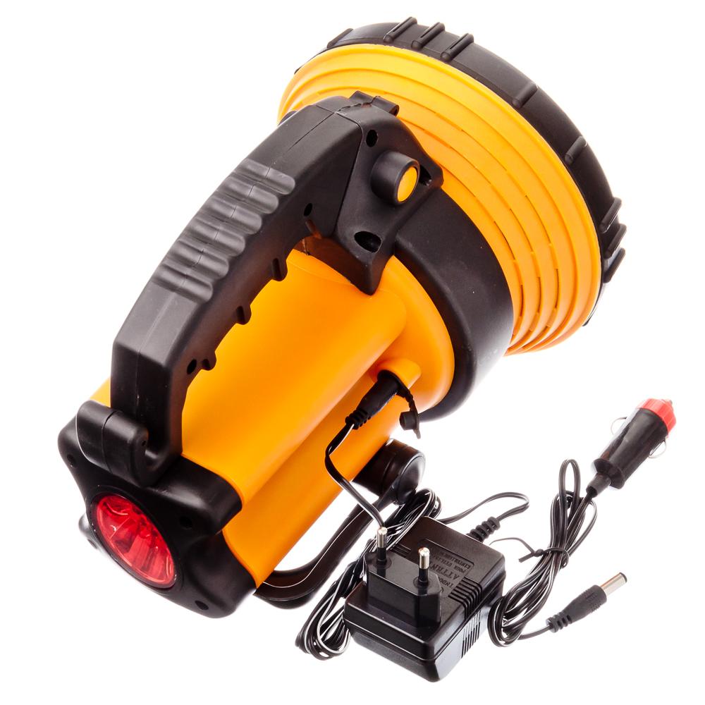 ЕРМАК Фонарь аккумуляторный, 6Вт, 27LED, заряд от прикур 12В + 220В, до 5 часов автоном.работы