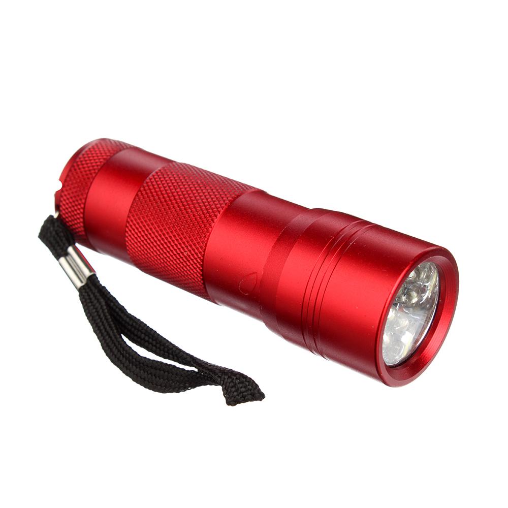 ЕРМАК Фонарик, 12LED, алюминий, 3x9,7см, питание от 3AAA (в комплект не входят), красный
