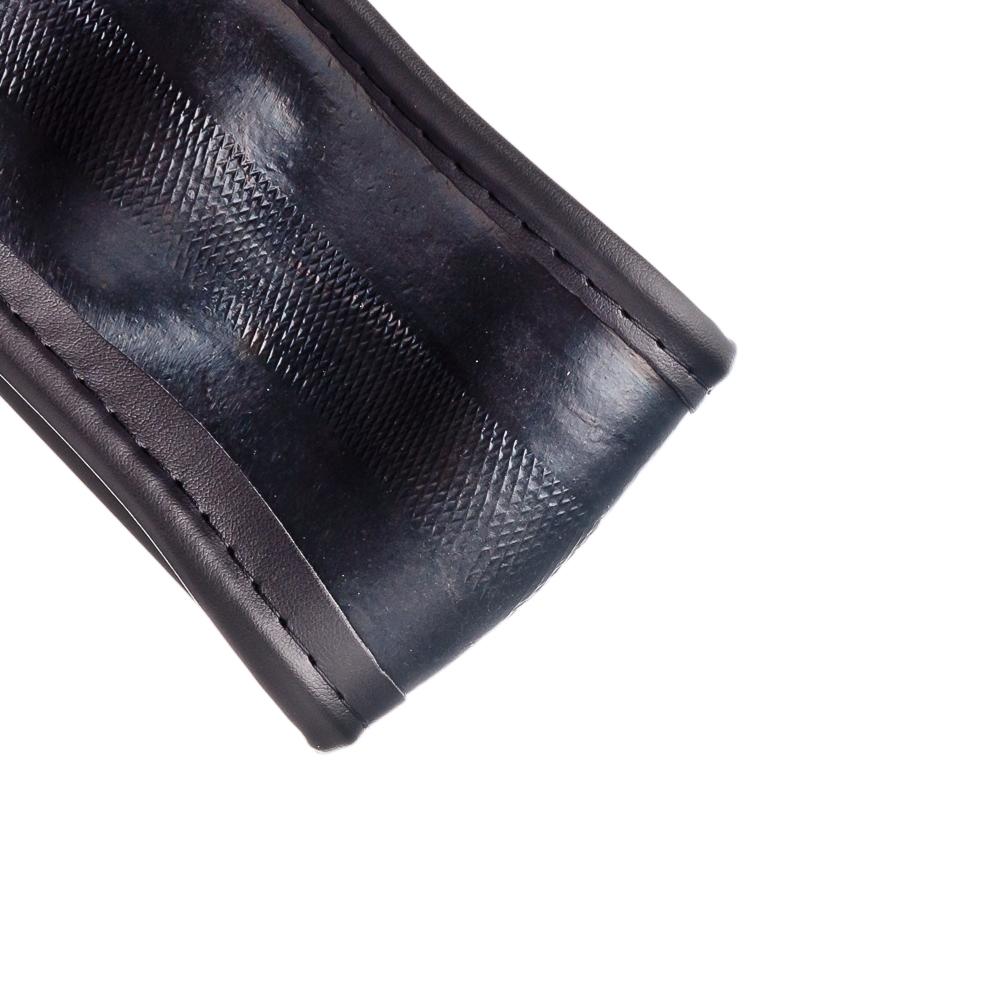 NEW GALAXY Оплетка руля, экокожа, вставки из под нубук, черный, разм. (М)