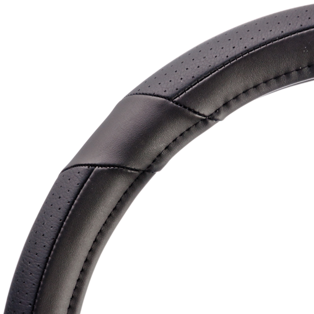 NEW GALAXY Оплетка руля, экокожа, вставки экокожа, черный, разм. (М)