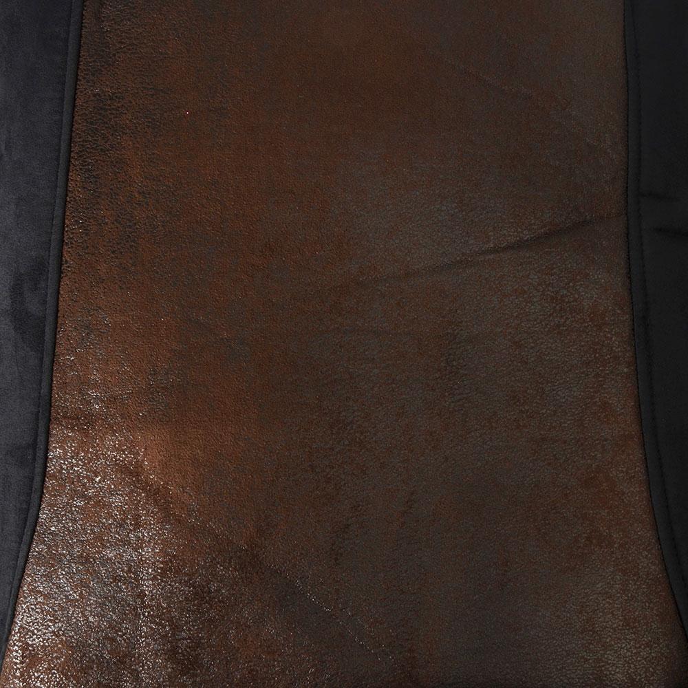 """NEW GALAXY Комплект универс. чехлов 9 пр, полиэстер + алькантара, 3мм поролон, черн/корич """"Сафари"""""""