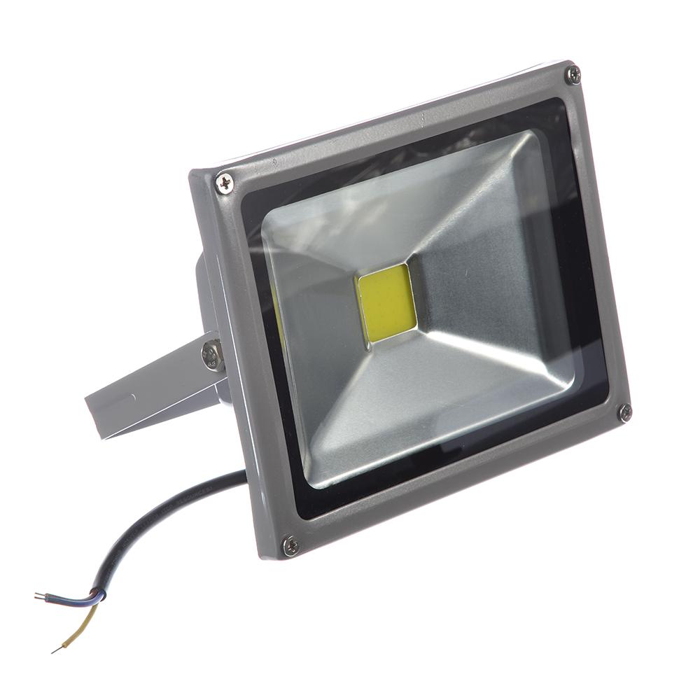 Прожектор светодиодный СОБ 20Вт, 250В, IP65, алюминиевый сплав/стекло, 140х180х85