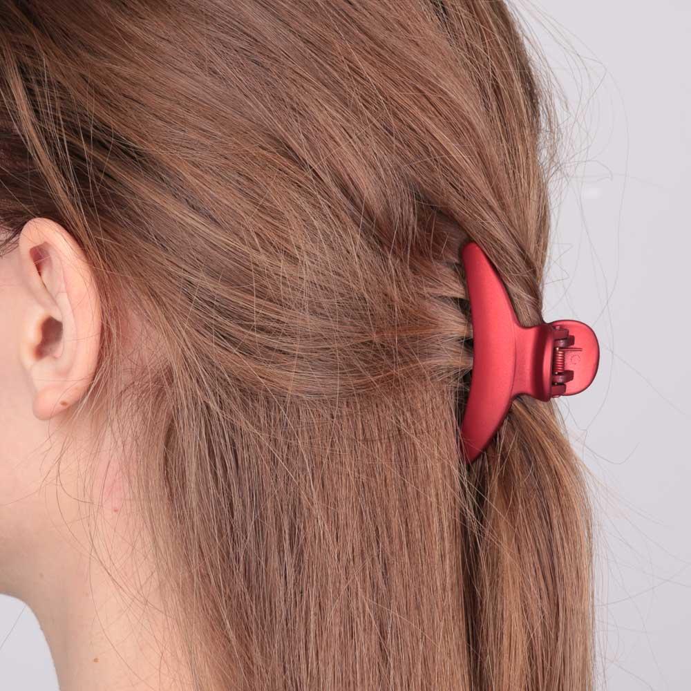 Заколка-краб для волос, металл, пластик, 7,5 см, 6 цветов