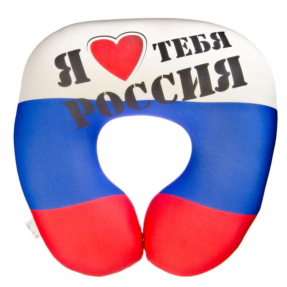 "Подушка под шею, антистрес ""РОССИЯ"", 35х35см, Апш05фла06"