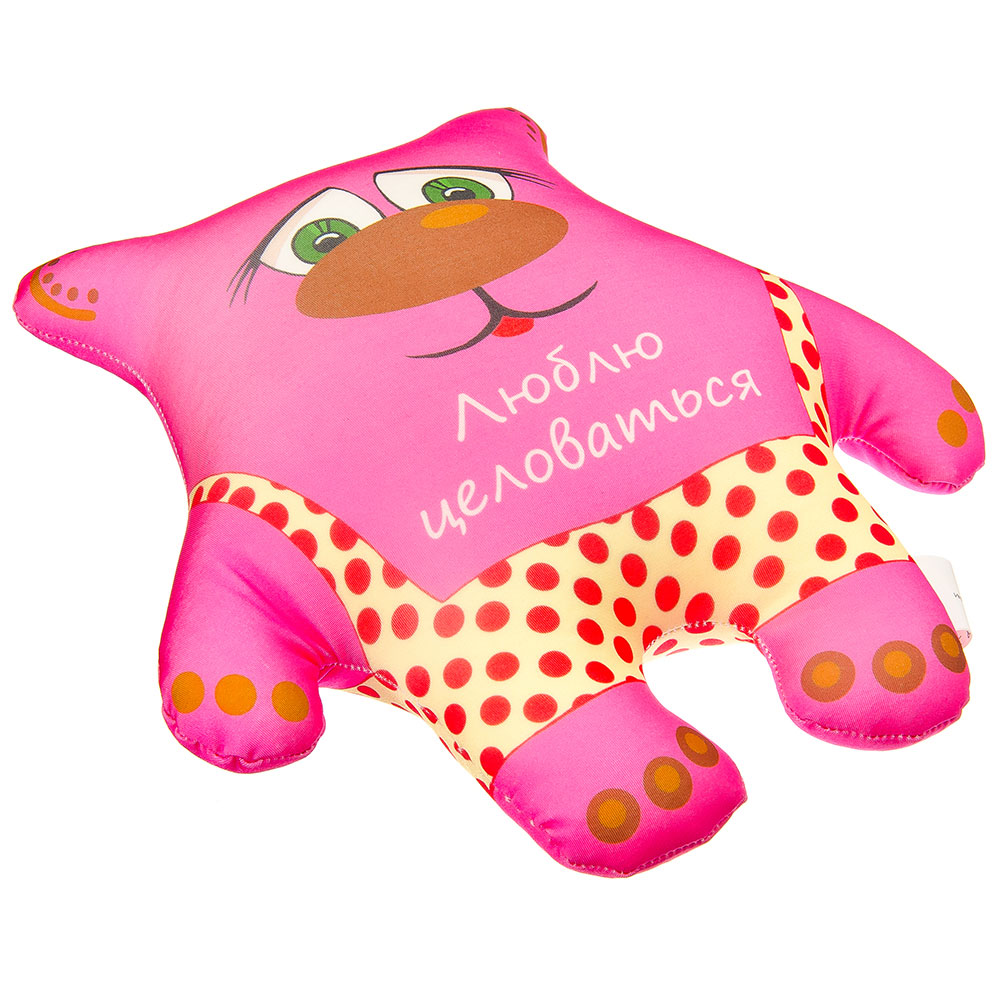 Игрушка Медвежонок 26,5х25см, 3 цвета, 3 дизайна