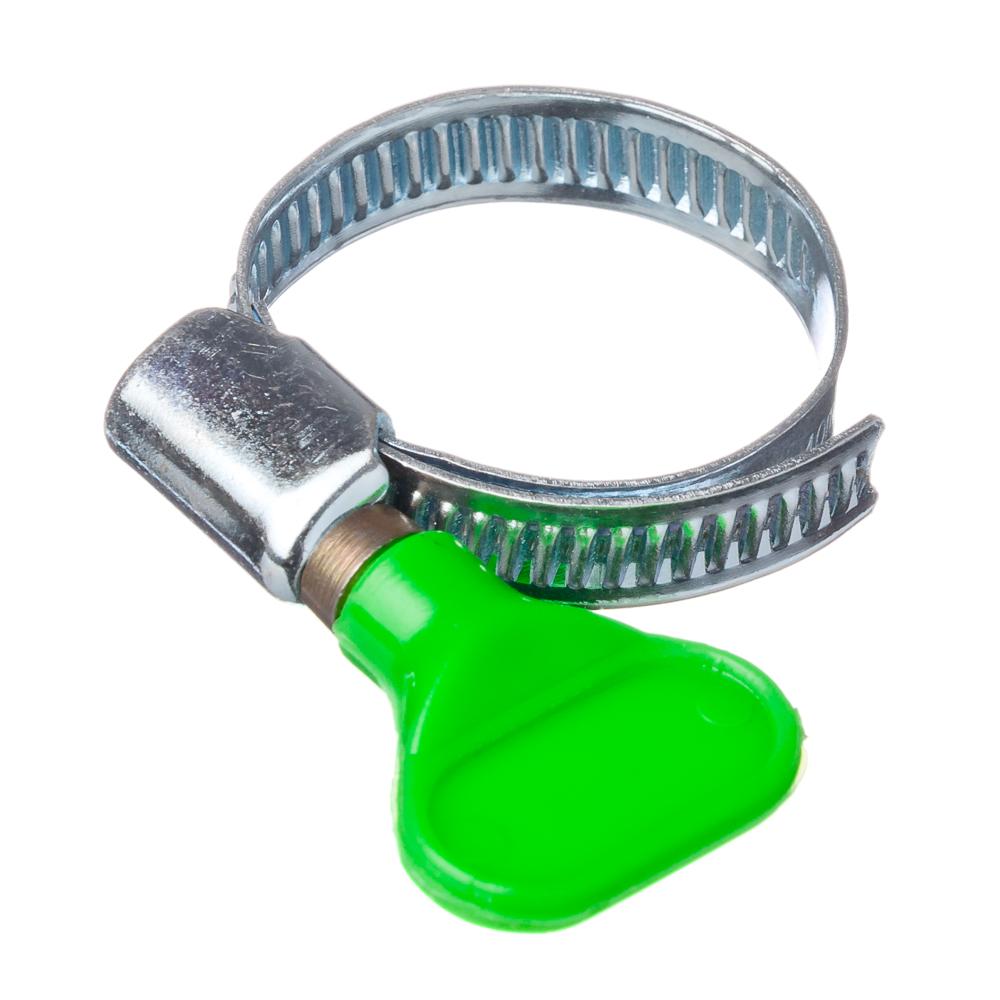 Хомут бабочка, с ключом, оцинк.сталь, 25-40мм, W1, шир. 9мм