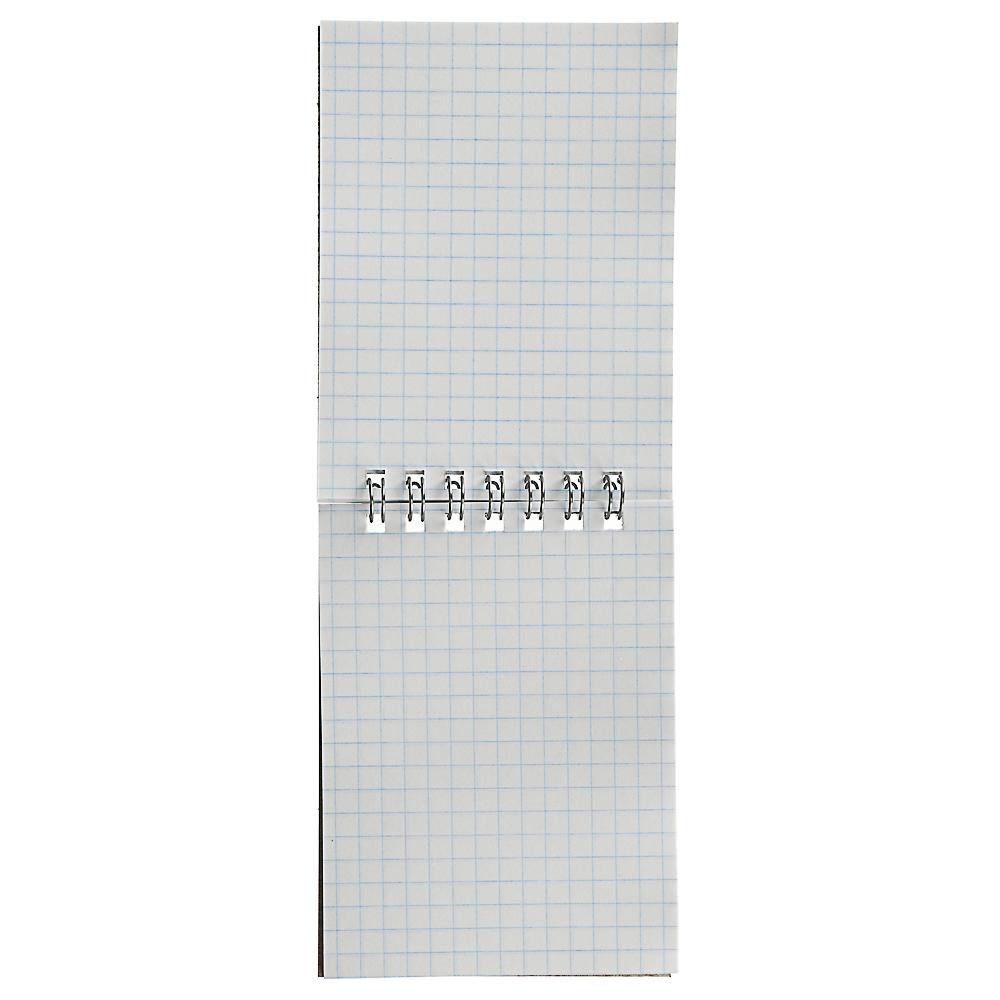 Блокнот А7 40 листов, в клетку, на спирали, обложка картон 235г/м2, 20 дизайнов