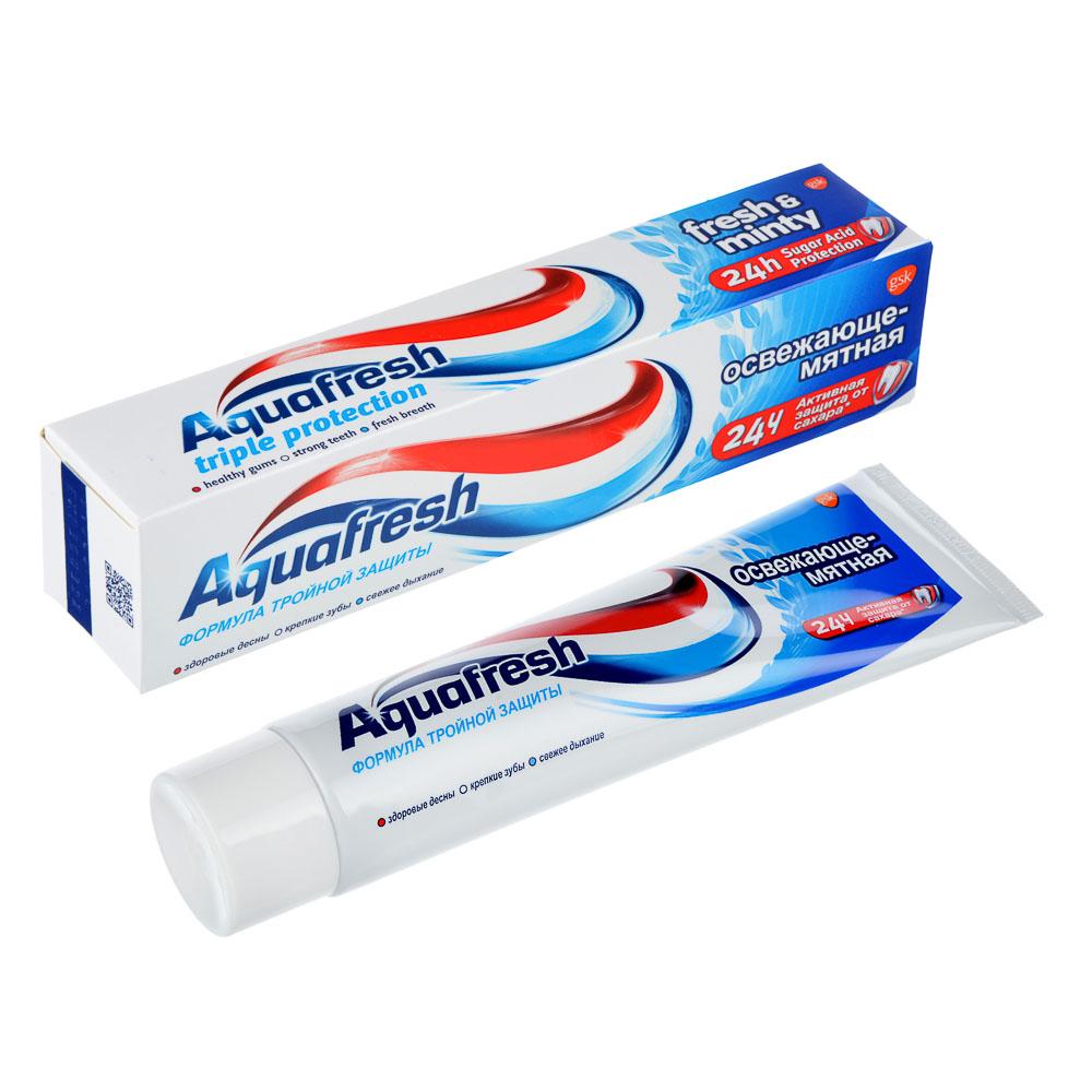 Зубная паста Аквафреш 3+ Освежающе-мятная/мягко-мятная,туба,100мл арт.71010/8007800