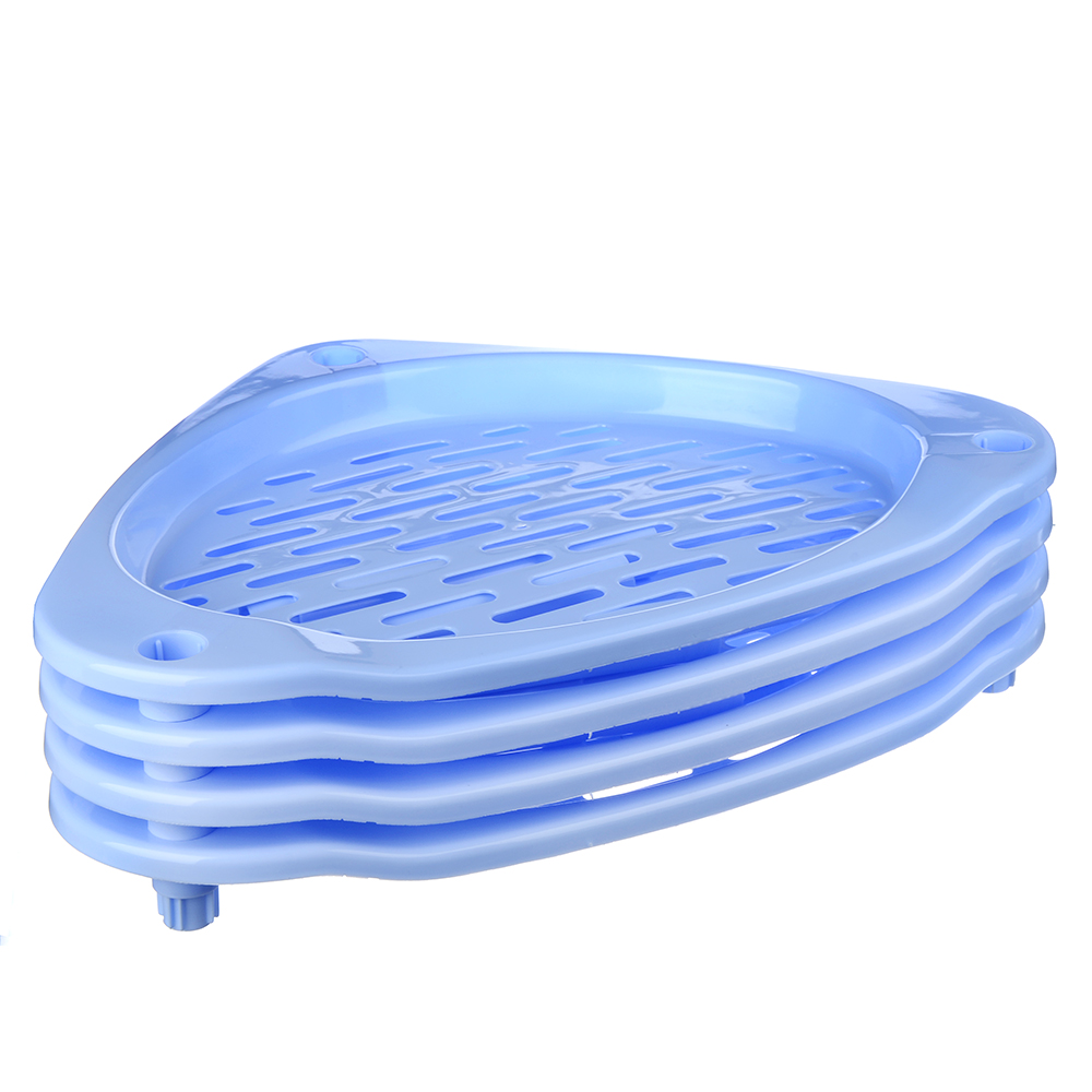 Этажерка напольная 4 ярусна, пластик, 38,5x38x70см, 3 цвета