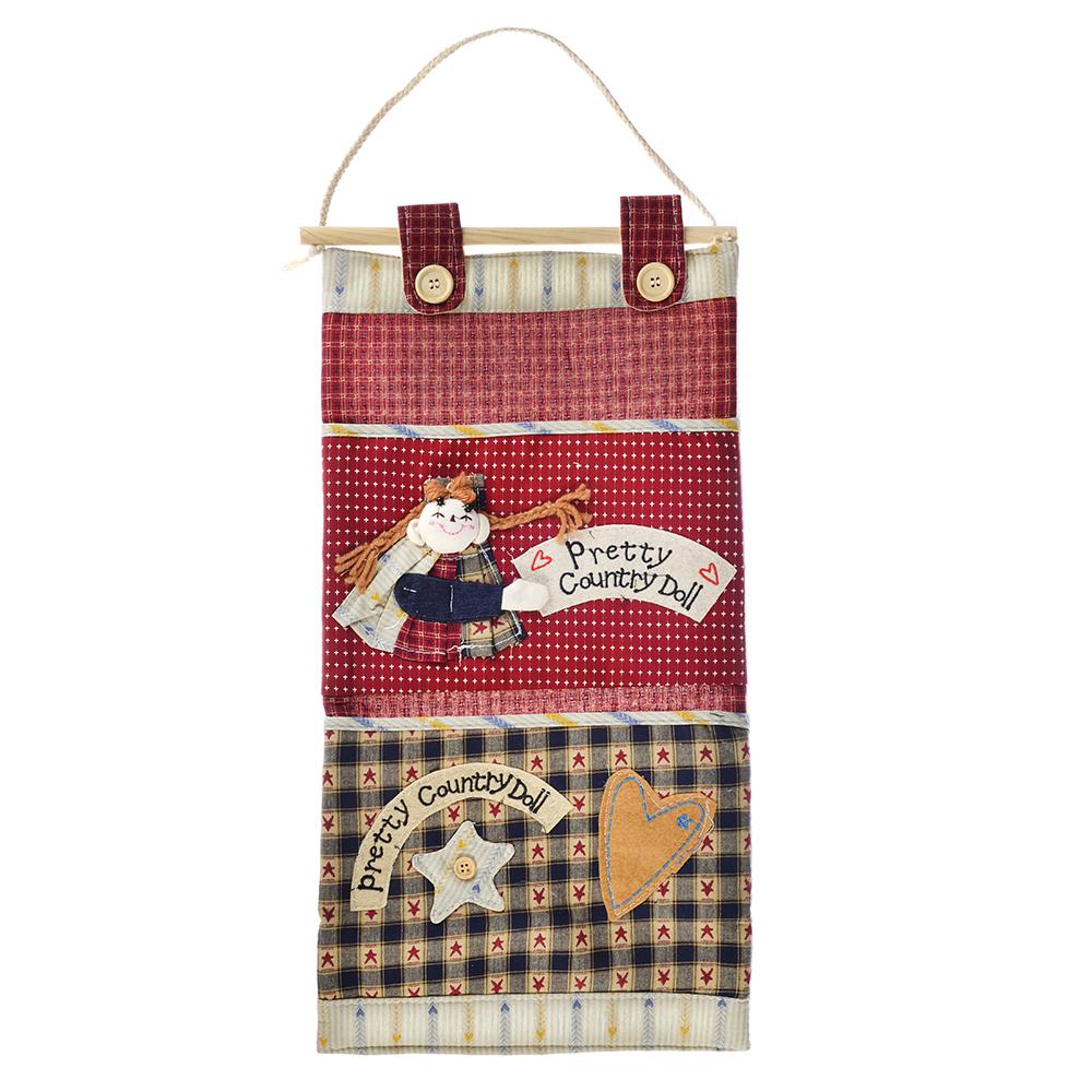 Кофр подвесной для хранения мелочей, 2 кармана, 50x25 см, 3 дизайна