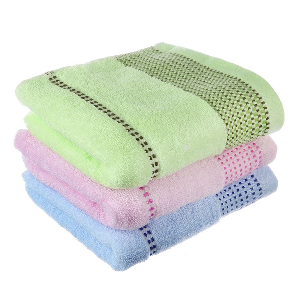 """Полотенце для рук махровое, хлопок, 33x76см, 3 цвета, """"Эконом"""""""
