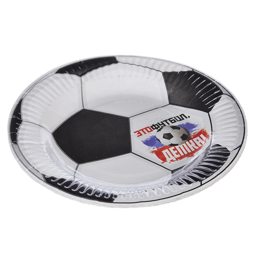 Футбол Набор бумажных тарелок, 6шт, d18см, GC Design