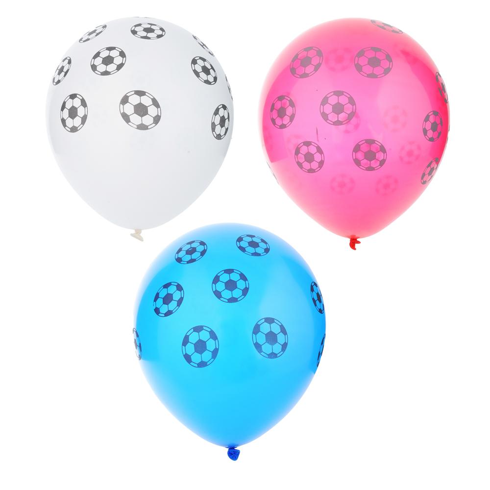 """Футбол Шары воздушные 10шт, 12"""", резина , GC Design"""