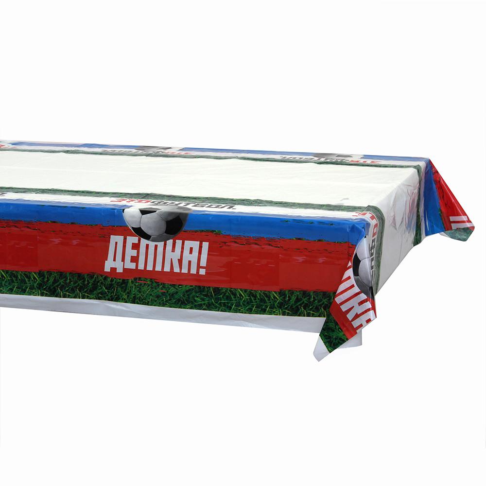 Футбол Скатерть праздничная, 180х108см, полиэтилен, 30мкм, GC Design