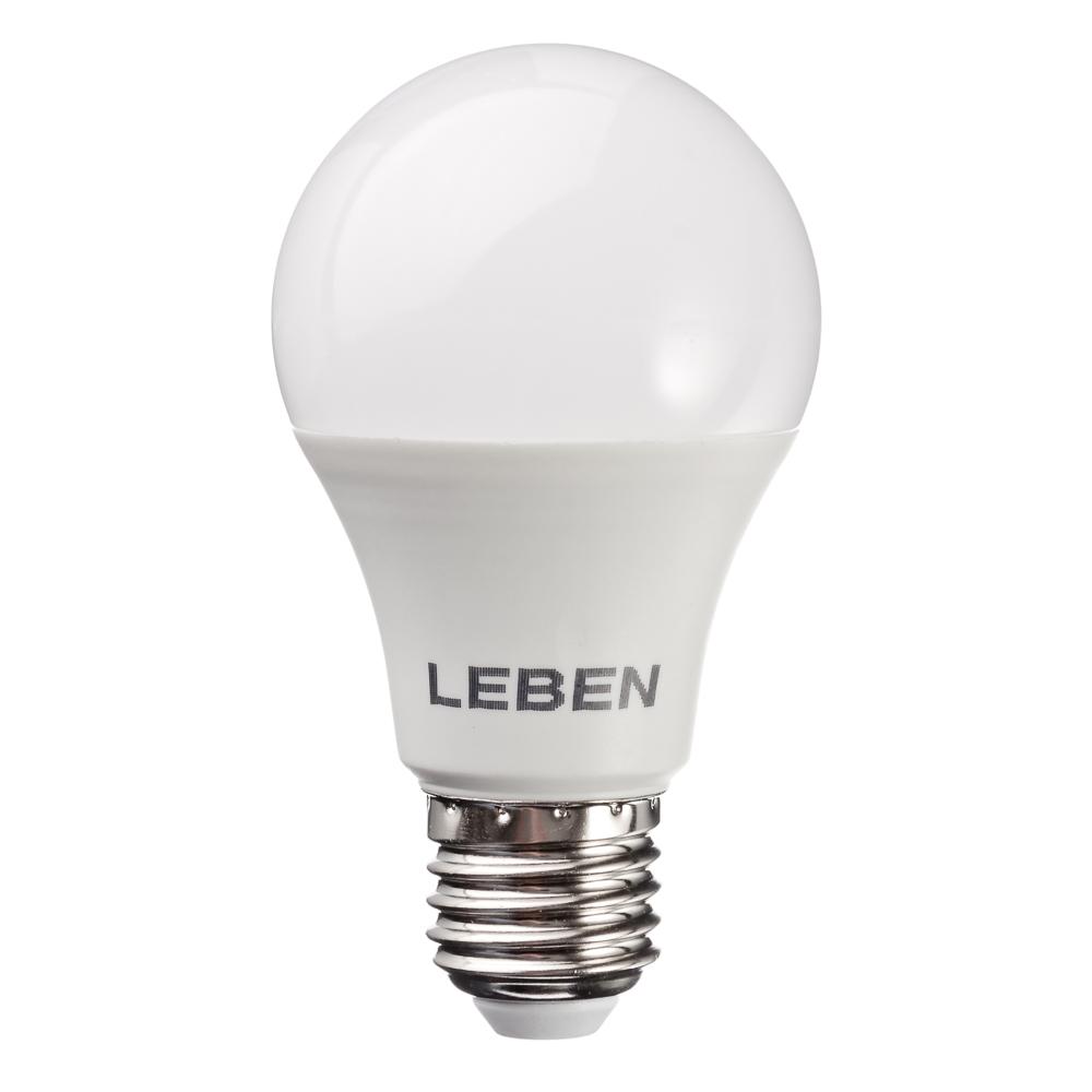 LEBEN Лампа светодиодная A60 10W, E27, 850lm 4200К