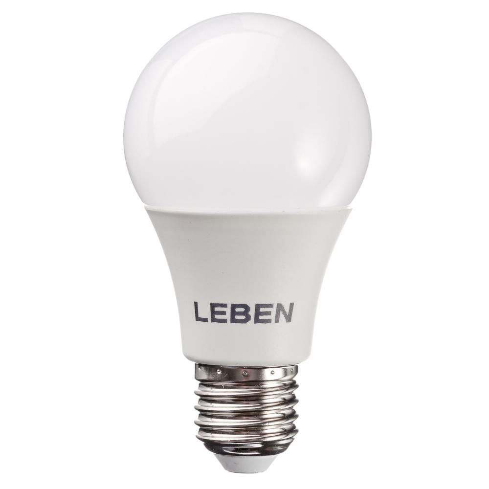 LEBEN Лампа светодиодная A60 8W, E27, 650lm 4200К
