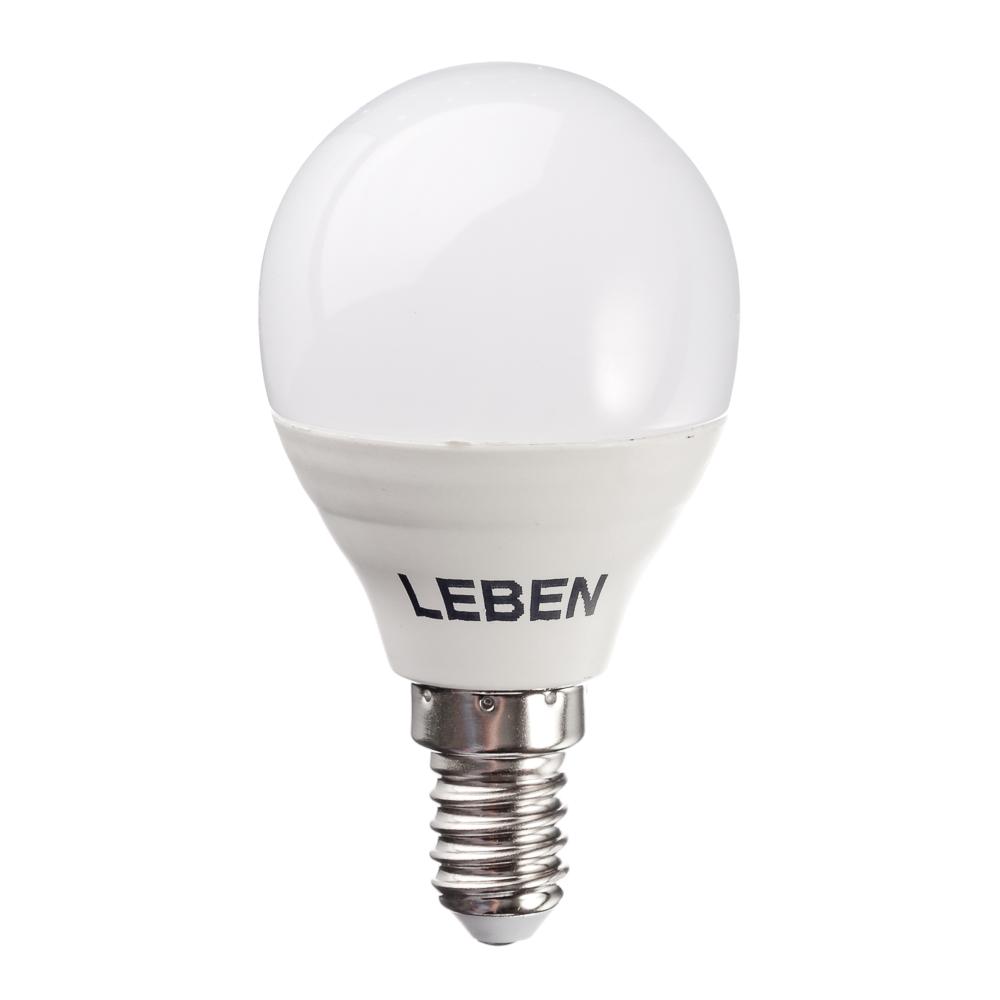 LEBEN Лампа светодиодная G45 5W, E14, 400lm 4200К