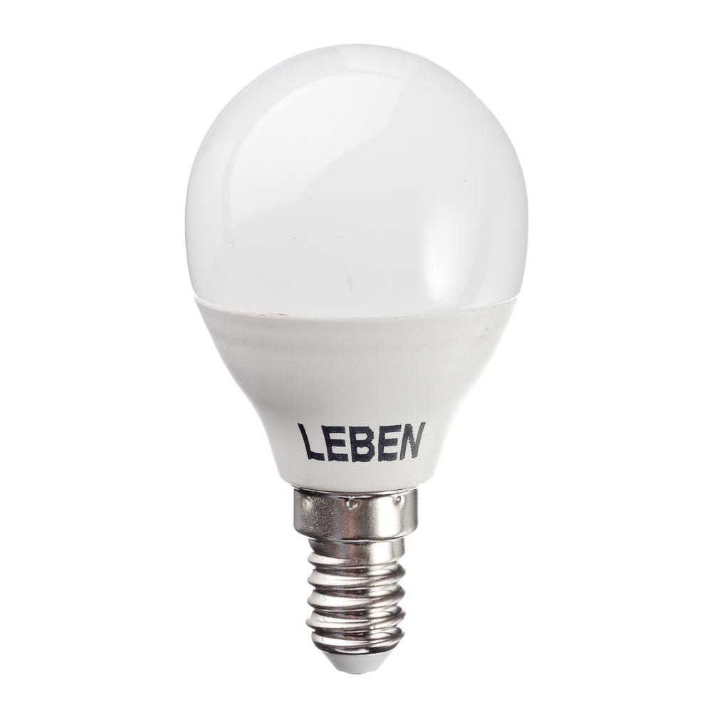 LEBEN Лампа светодиодная G45 7W, E14, 560lm 2700К
