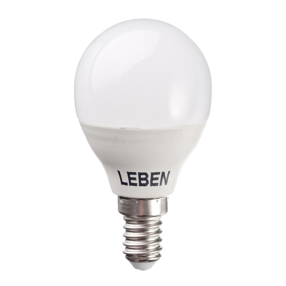 LEBEN Лампа светодиодная G45 7W, E14, 560lm 4200К