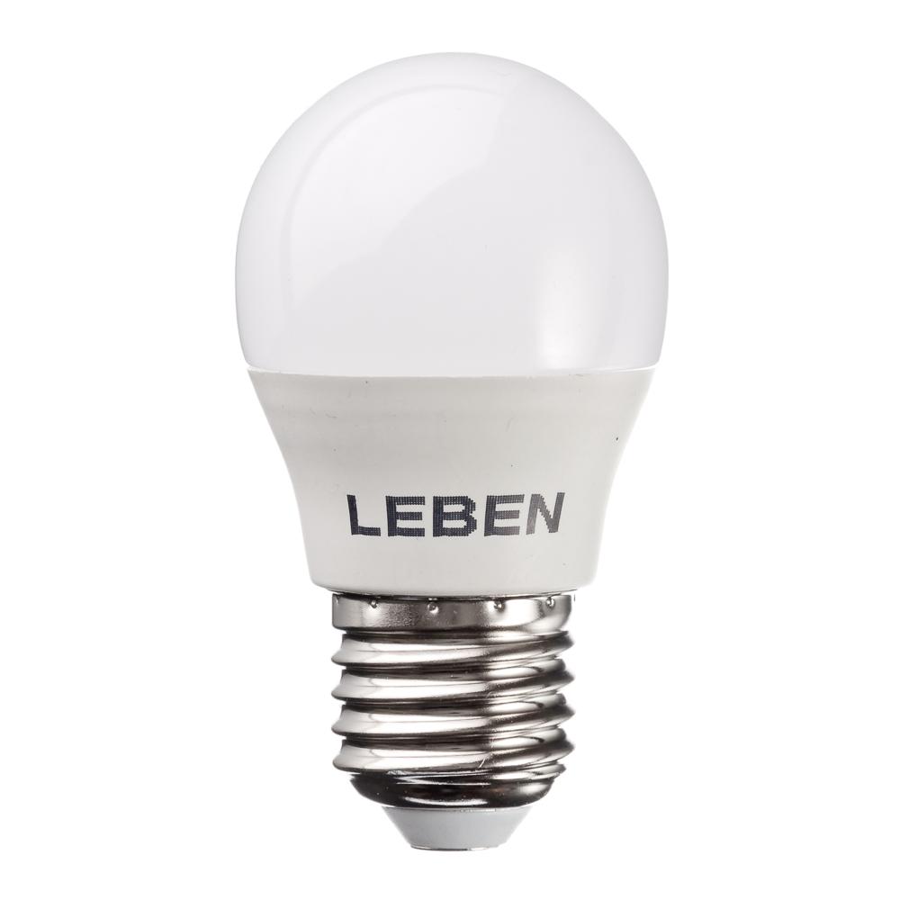 LEBEN Лампа светодиодная G45 7W, E27, 560lm 2700К