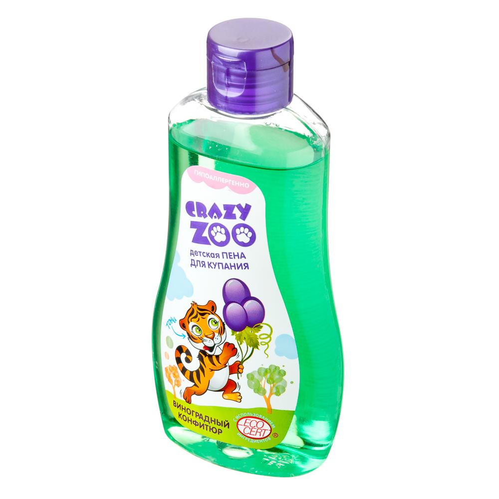 Пена для купания детская Крейзи Зу, виноградный конфитюр, п/б 280г, 7114