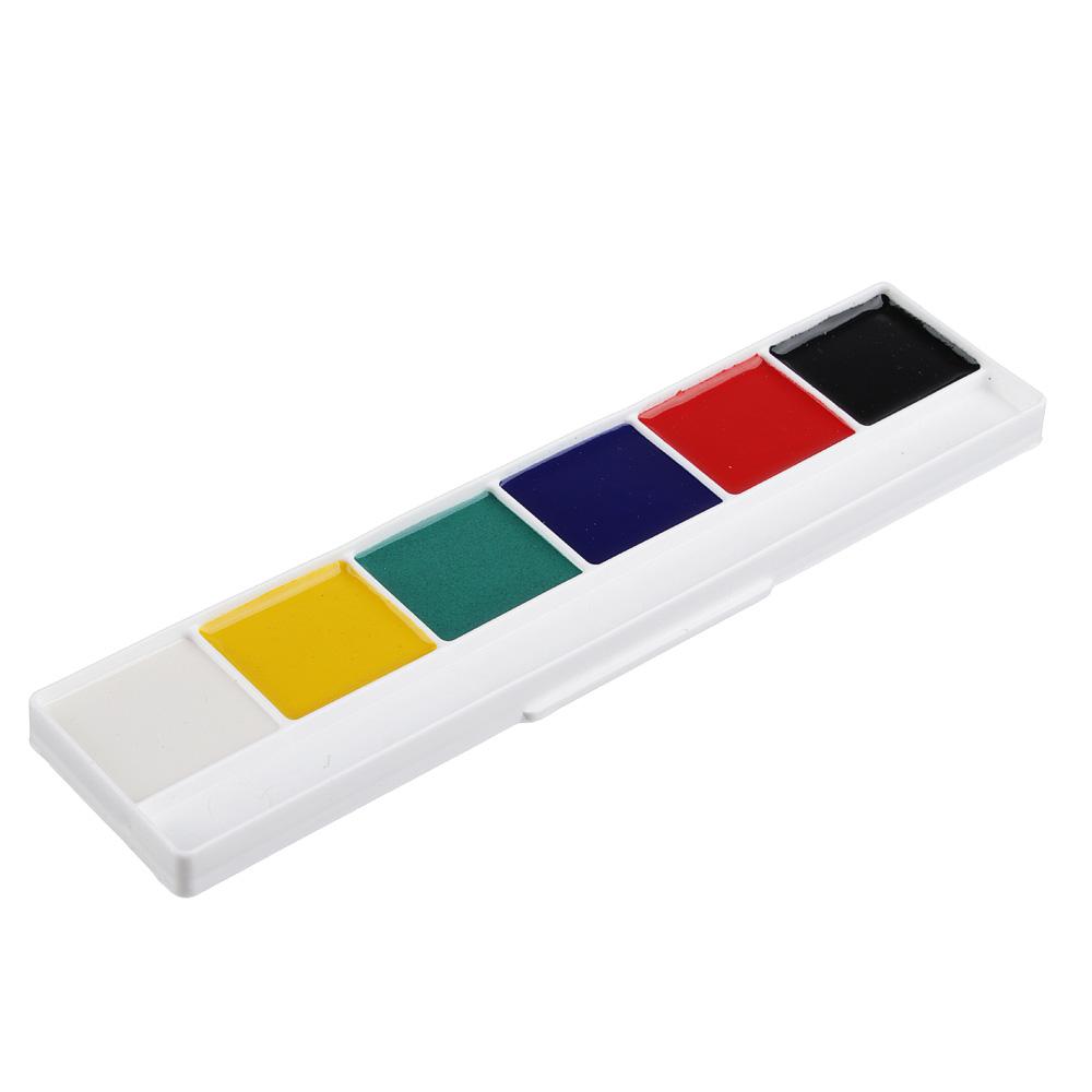 Краски акварельные медовые ClipStudio 6 цветов без кисточки