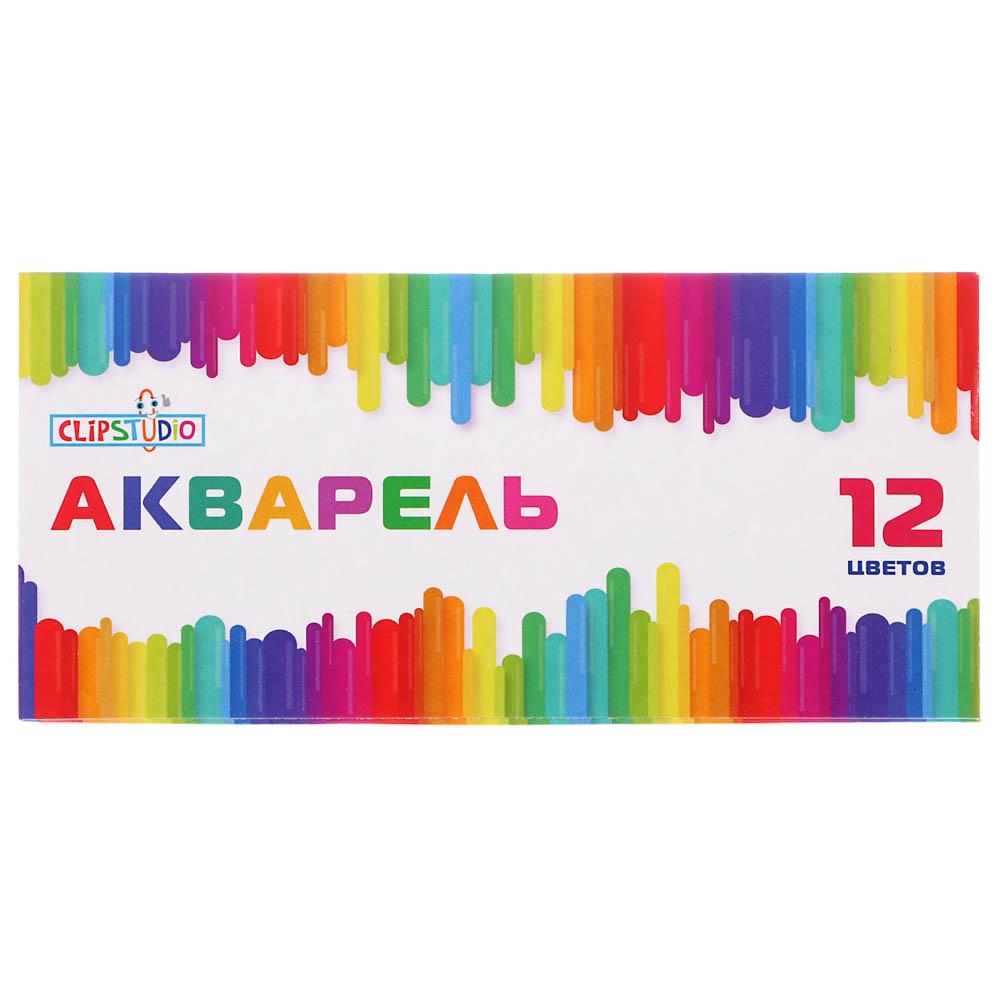 Акварельные медовые краски, 12 цветов, без кисточки в картонной упаковке