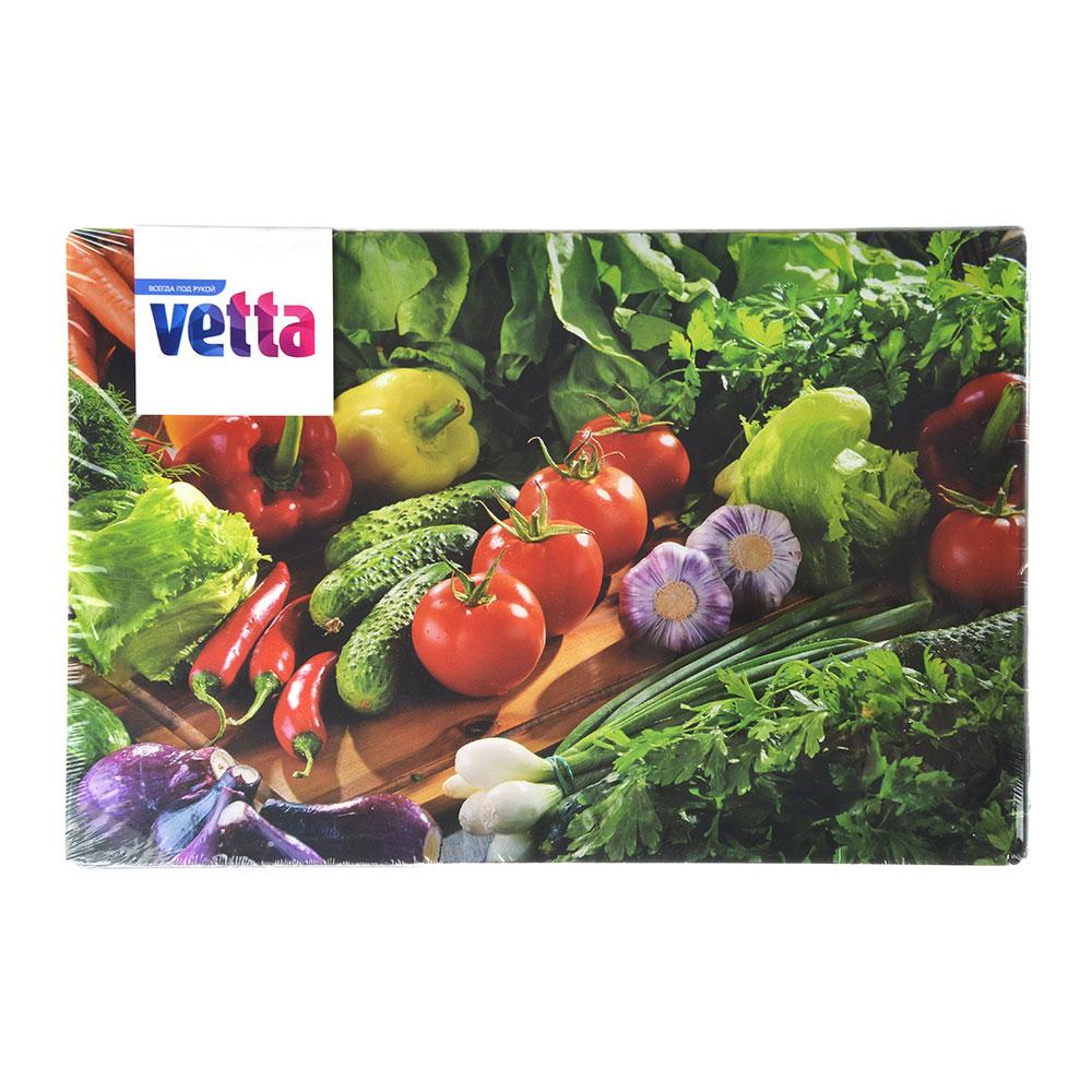 Доска разделочная стеклянная VETTA Овощное ассорти, 20х30х0,4 см
