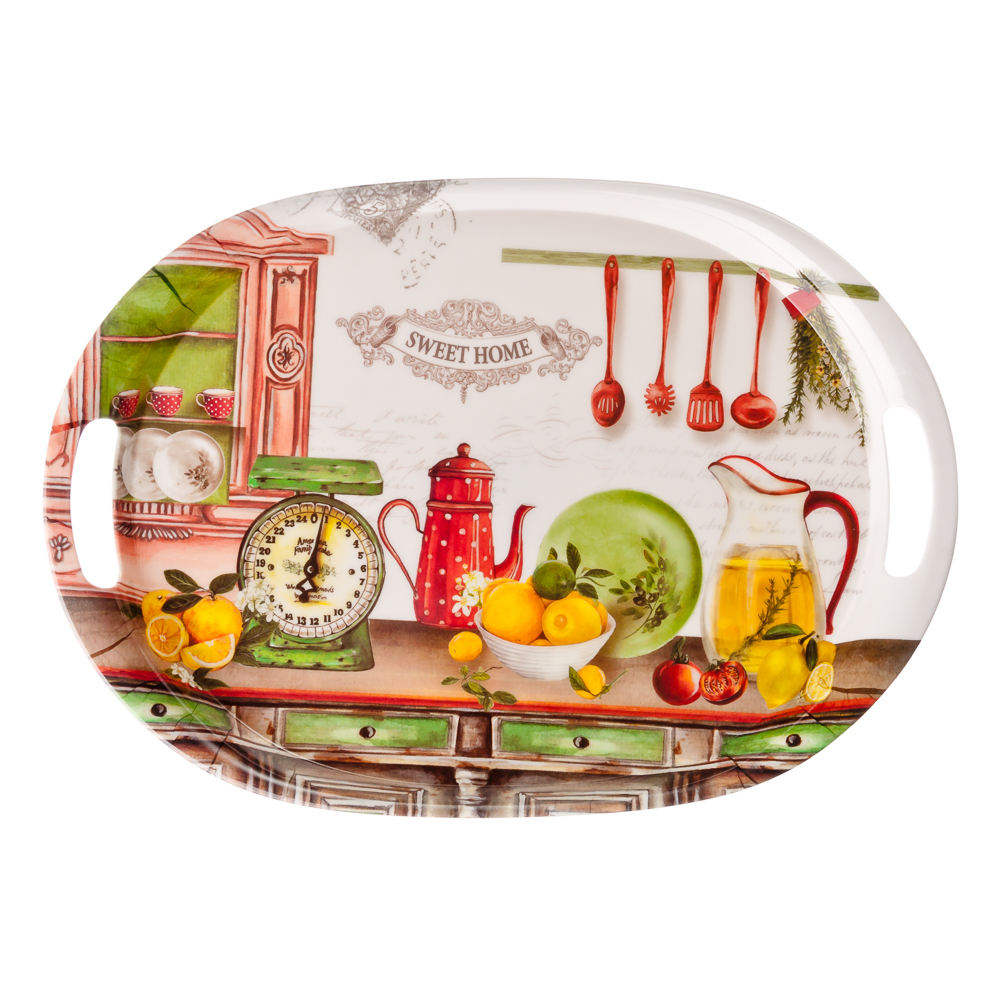 VETTA Итальянская кухня Поднос пластик, 38,5х27см, YL012415
