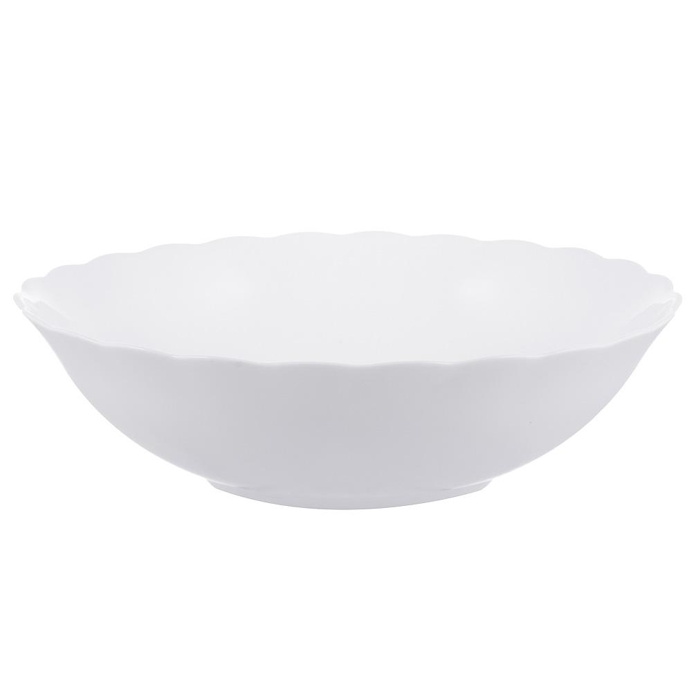 """Салатник, опаловое стекло, 23 см, MILLIMI """"Бьянко"""""""