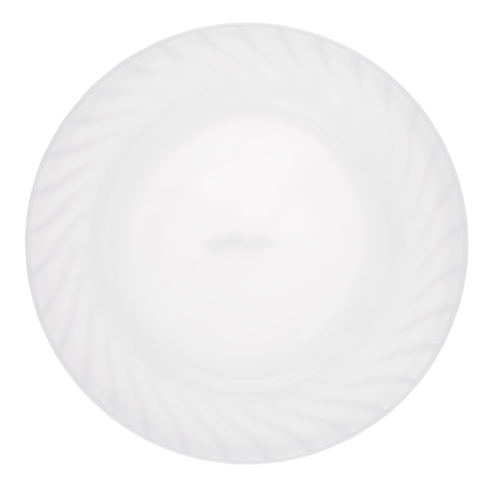 "Тарелка десертная, опаловое стекло, 20 см, MILLIMI ""Бьянко"""