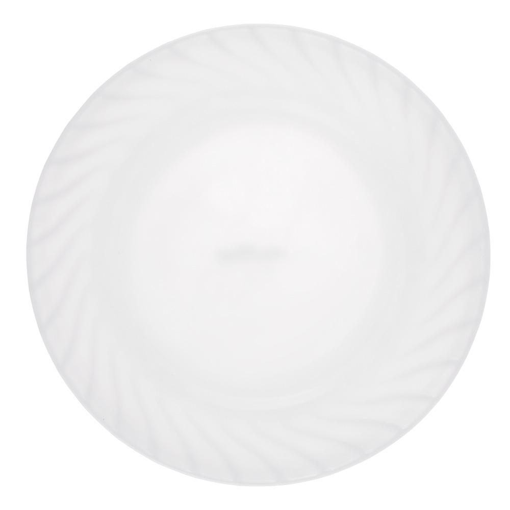 """Тарелка подстановочная, опаловое стекло, 23 см, MILLIMI """"Бьянко"""""""