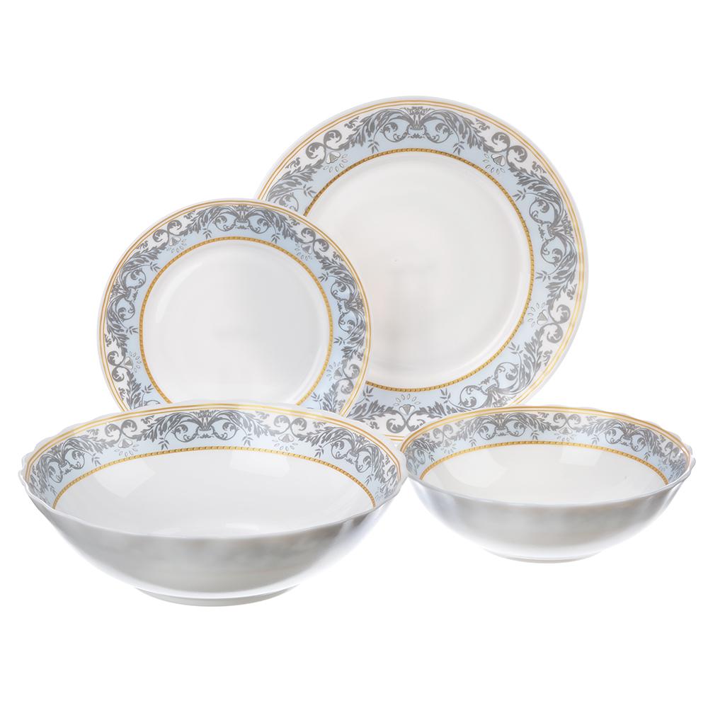 MILLIMI Аделина Набор столовой посуды, опаловое стекло, 19 пр., H19DT-16142A