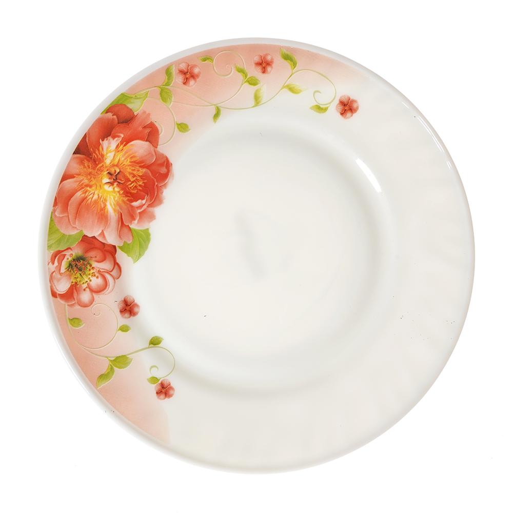 """Тарелка десертная, опаловое стекло, 20 см, MILLIMI """"Лорина"""""""