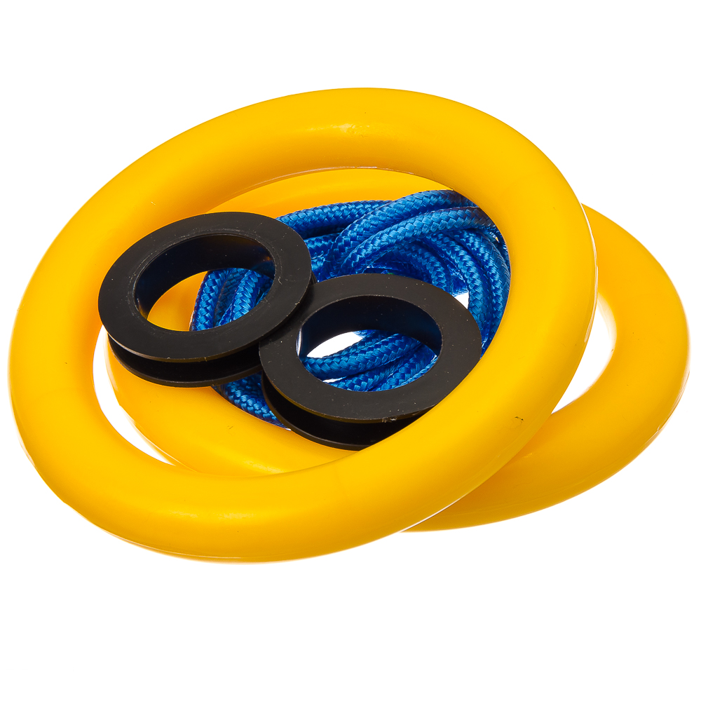SILAPRO Кольца гимнастические пластиковые, d16,5cм, цветные