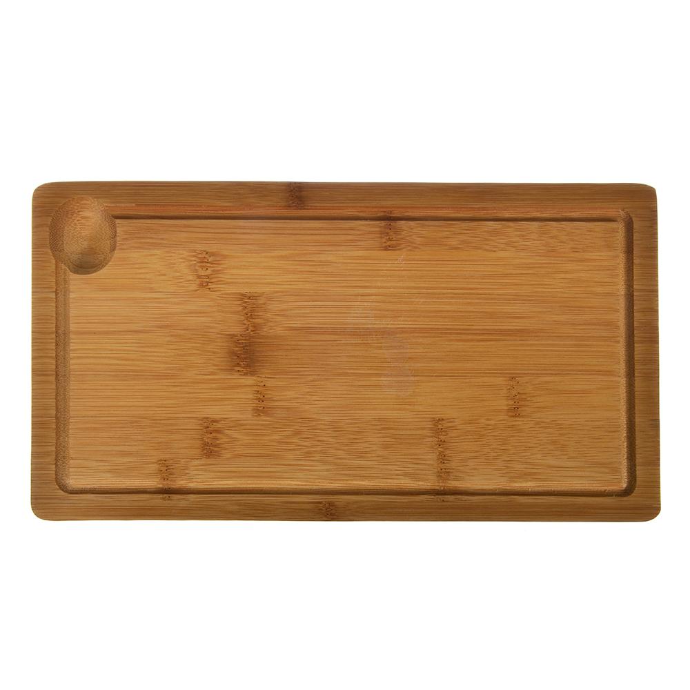 """Доска разделочная с выемкой, бамбук, 32x17x2см, VETTA """"Гринвуд"""""""