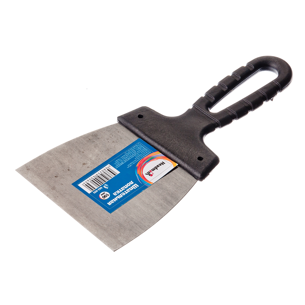 HEADMAN Шпательная лопатка 100 мм, полированная сталь, спец.покрытие, пластмассовая ручка