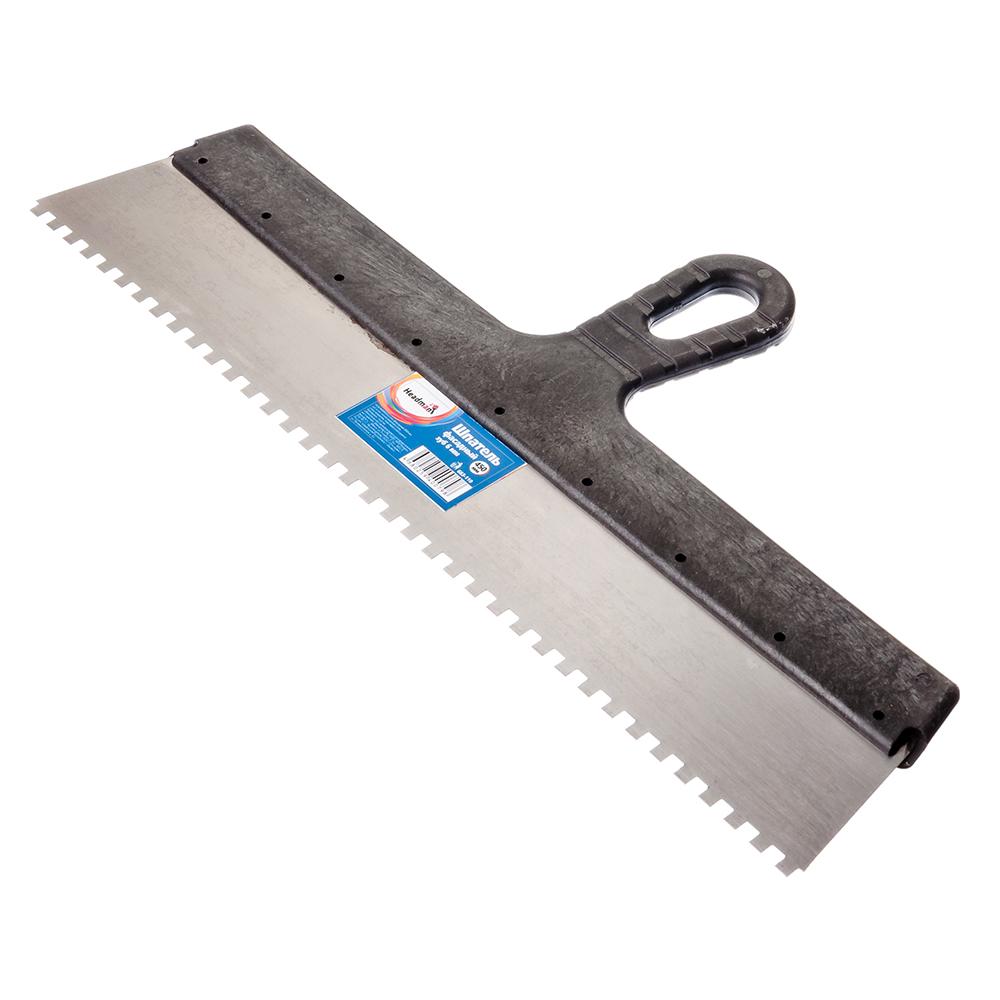 HEADMAN Шпатель фасадный 450 мм, зуб 6 мм, полированная сталь, спец.покрытие, пластмассовая ручка