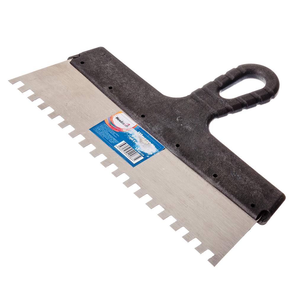 HEADMAN Шпатель фасадный 300 мм, зуб 8 мм, полированная сталь, спец.покрытие, пластмассовая ручка