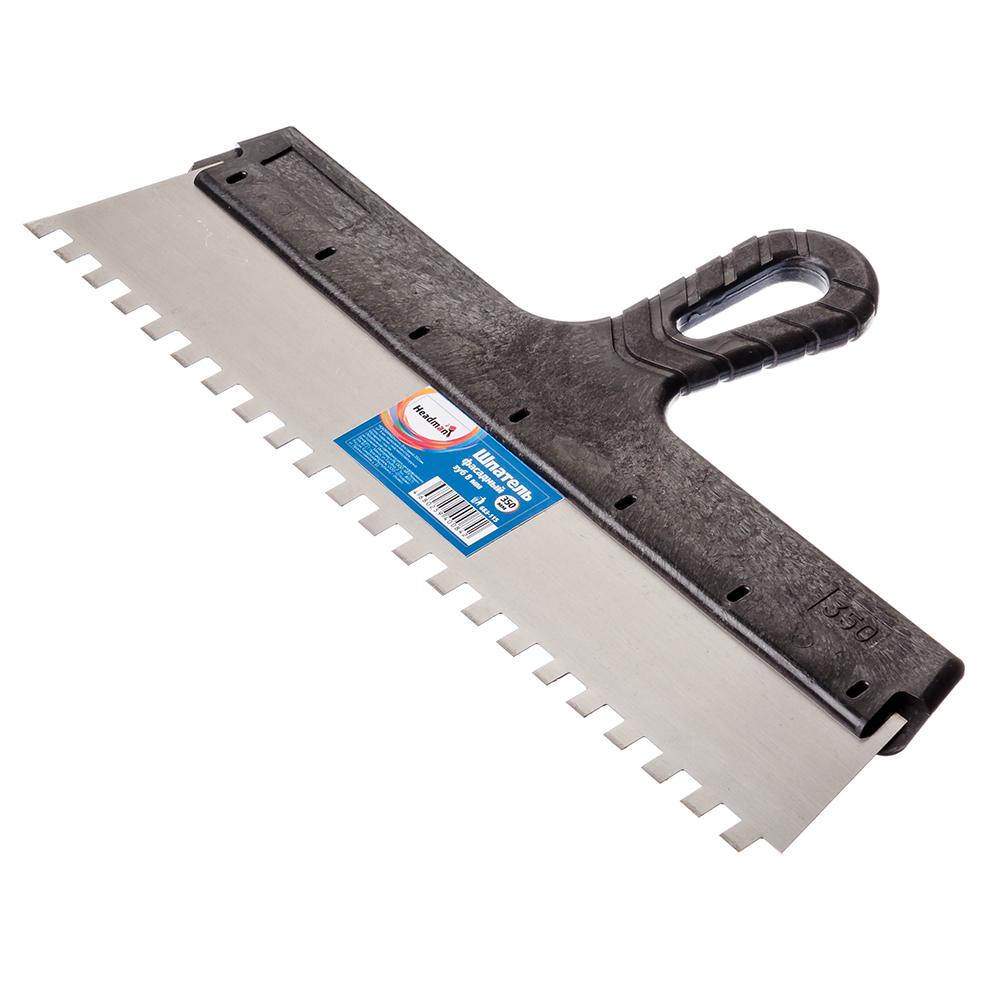 HEADMAN Шпатель фасадный 350 мм, зуб 8 мм, полированная сталь, спец.покрытие, пластмассовая ручка