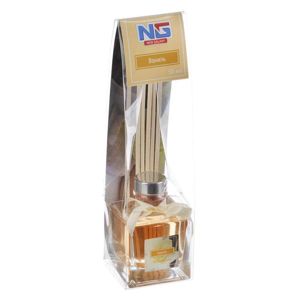 Ароматизатор диффузор с палочками, аромат ваниль, 50 мл, NEW GALAXY