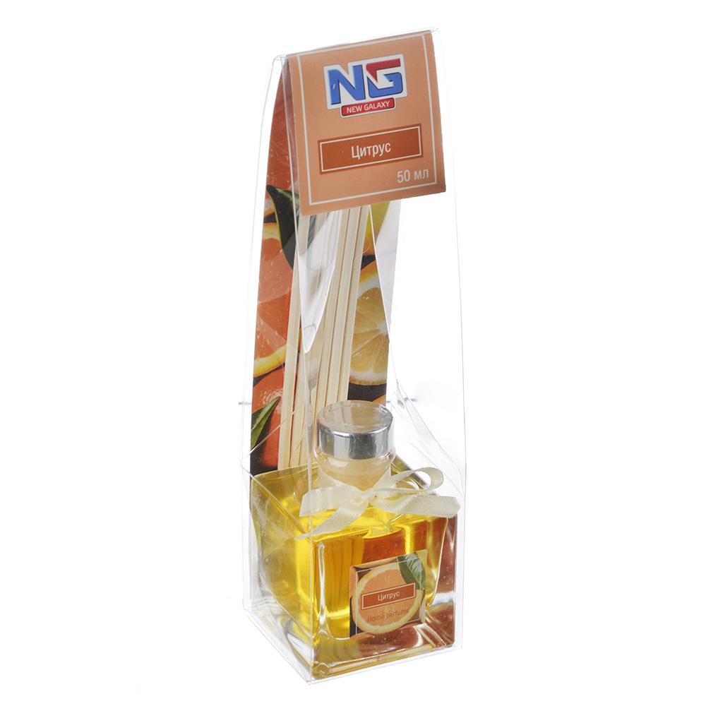 Ароматизатор диффузор с палочками, аромат цитрус, 50 мл, NEW GALAXY