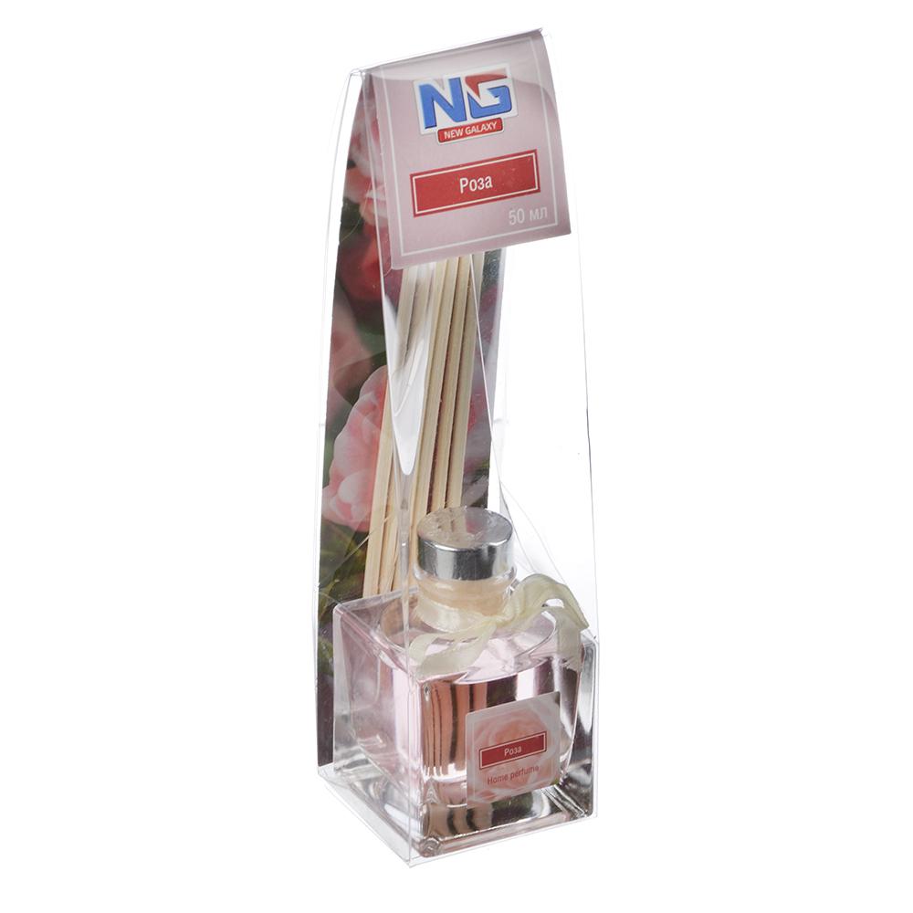 Ароматизатор диффузор с палочками, аромат роза, 50 мл, NEW GALAXY
