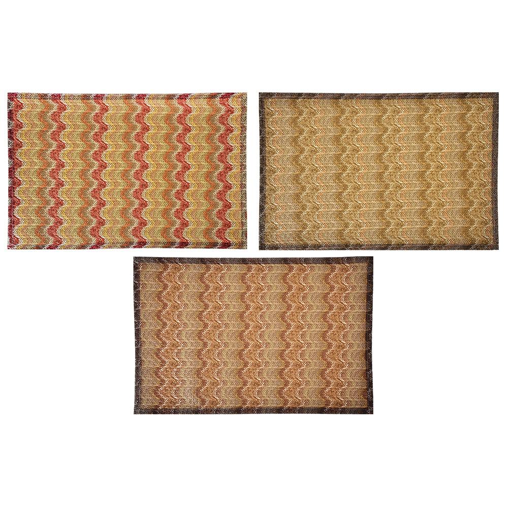 Салфетка сервировочная, плетеный ПВХ, 30x45см, 3 дизайна